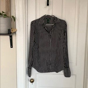 Lauren Ralph Lauren 100% silk button down